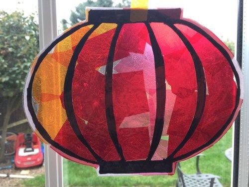 Chinese lantern sun catcher