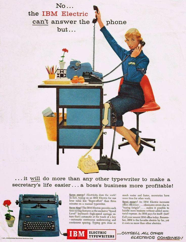oz.Typewriter: Before the Selectric: IBM and Smith-Corona Electric Typewriter Ads, 1956-57