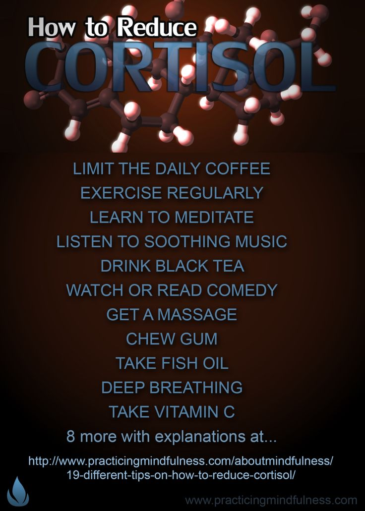 How to reduce cortisol.