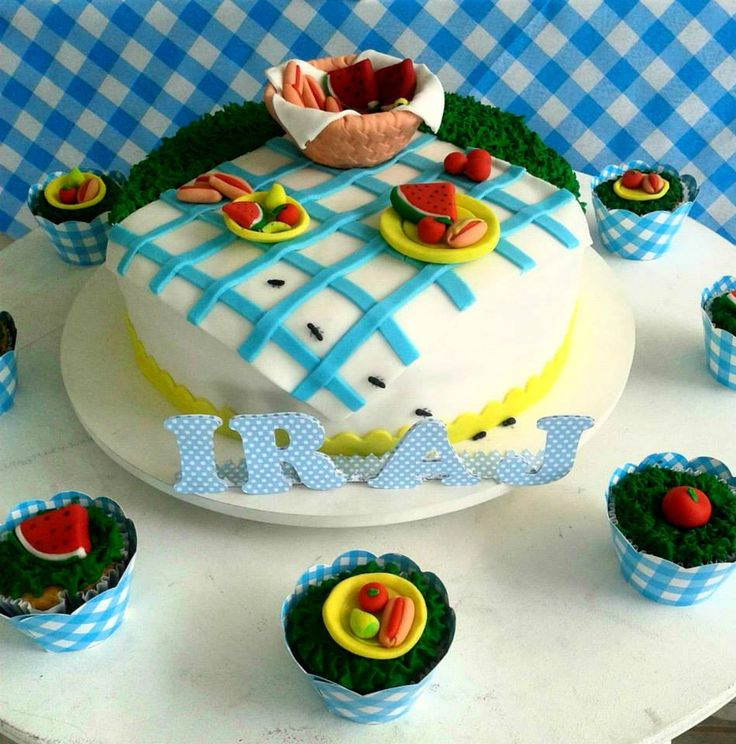 Doce Festa: Cupcakes de piquenique Picnic cupcakes