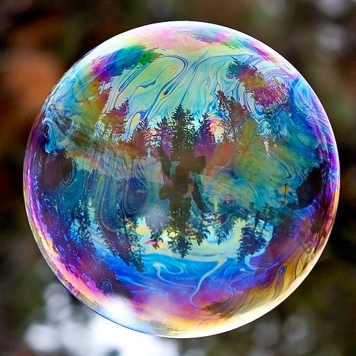 Bubble close up - Those colors. <3