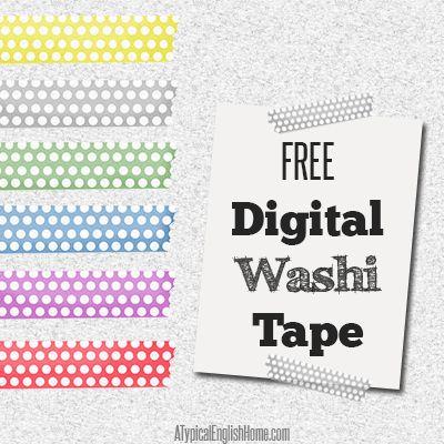 A Typical English Home: Free Digital Washi Tape