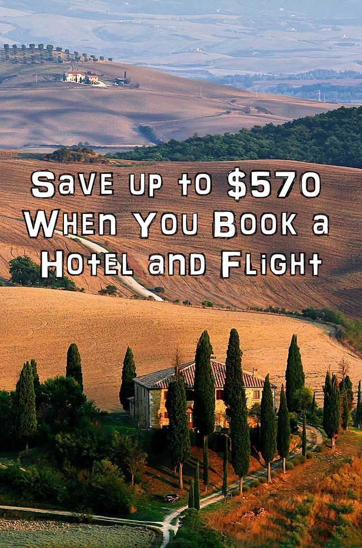 Save up to $570 When You Book a Hotel and Flight -Get Deal 26-Apr-2016 to 31-Jan-2019  All the top travel deals and discounts from the top networks. Save big when all the top providers for flights, package vacations, all inclusive, hotels and resorts, rental cars and compete for your patronage.