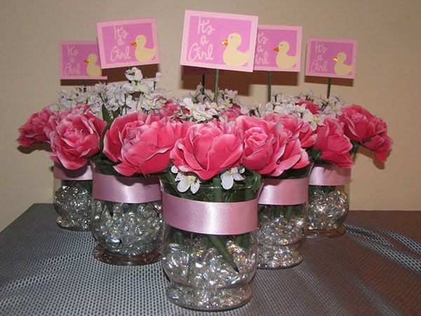 Easy to make baby shower centerpieces baby shower for for Baby shower decoration ideas to make