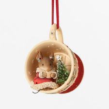 KAREN HAHN*Heart of Christmas*MOUSE IN TEACUP ORNAMENT*NEW*NIB*Holiday*4038711*