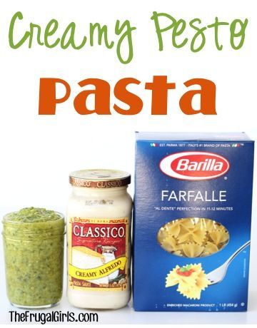 Creamy Pesto Pasta Recipe! ~ from TheFrugalGirls.com ~ this delicious comfort food dish using fresh homemade Basil Pesto is beyond delicious! #recipes #thefrugalgirls