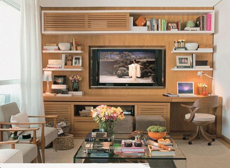 ESTANTE PARA TV: Home Decoration, 24 Ideia, Home Theaters, Ideia Sala, Sala De Tv, For Offenses, Entertainment Center, Ideia Para, Be