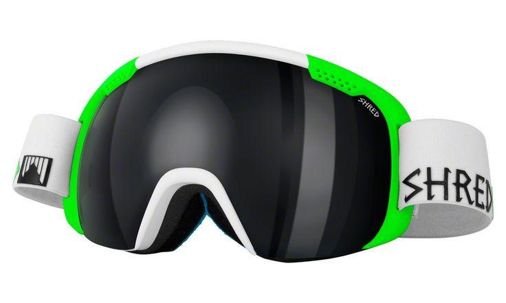 Shred Smartefy Goggles: Bro: White/Green
