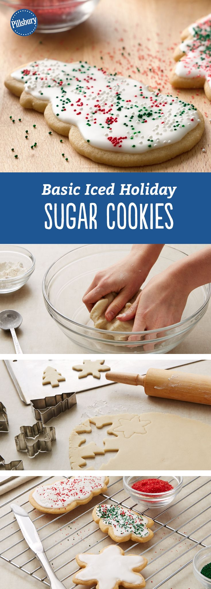 Basic Iced Holiday Sugar Cookies: Whether you need Valentine's Day treats for the class or Christmas sweets to leave out for Santa, these versatile holiday sugar cookies have got you covered.