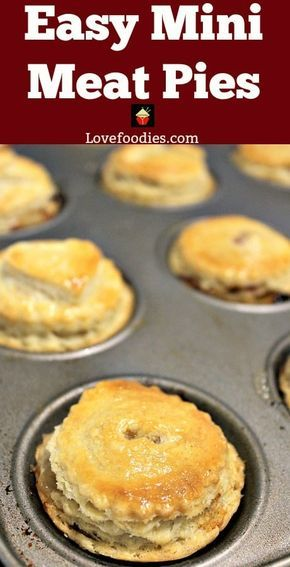Homemade Mini Meat Pies have a delicious flaky pie crust, are simple and quick t… – Heather Wilson Jacobson