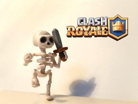DIY Clash Royale Skeleton - Polymer clay tutorial - YouTube