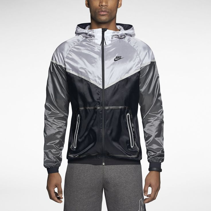nike tech windrunner white black grey men 39 s apparel. Black Bedroom Furniture Sets. Home Design Ideas