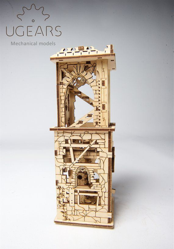 Archballista-Tower build your own working model by UGears