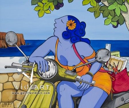 Cercant sa fuga Marc Jesus 120x100cm @Galería de Arte Vidrart Menorca #art #gallery