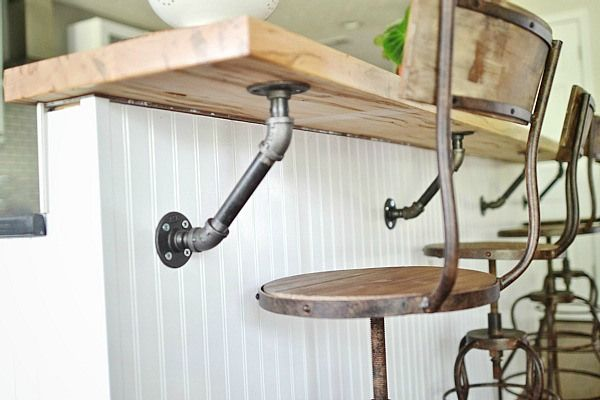 Cozy Industrial Home Tour - great idea for brackets!