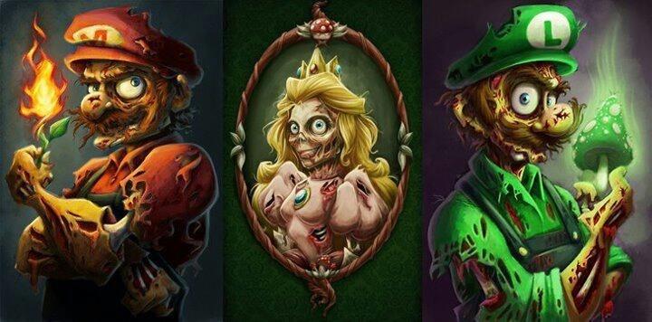 Mario bros spooky picture.