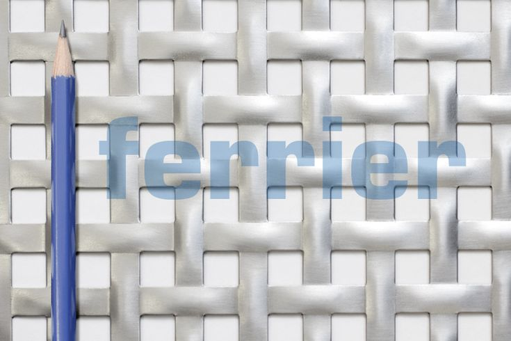 Ferrier Design perforated, sacchetto pattern, mild steel (unfinished) material.