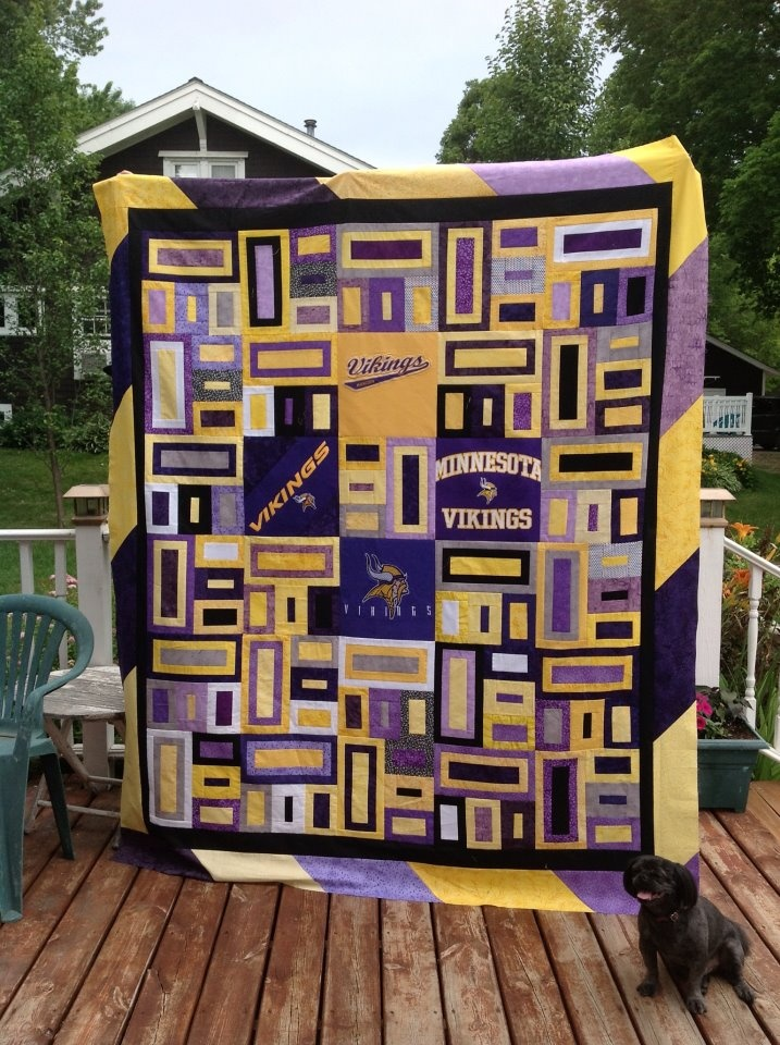 Red Star Quilts: Minnesota Vikings Quilt