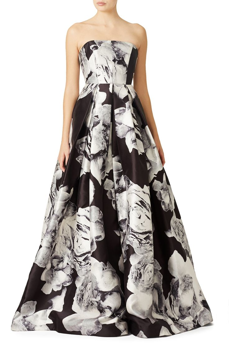 Rent Silver Mikado Gown by ML Monique Lhuillier for $150 only at Rent the Runway.