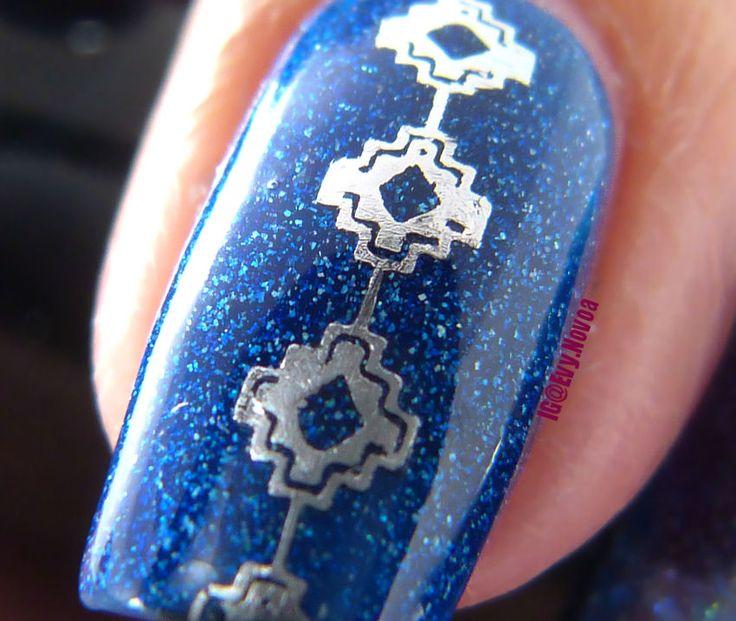 #uñasestampadas #sexynails #moda #estilo #style #fashion #fashionnails #macronails #bluenails #bluenailpolish #foilnails