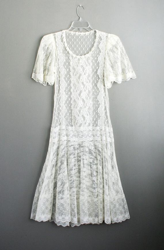 Lace Dress - Short Wedding Dress - Gatsby - Drop Waist