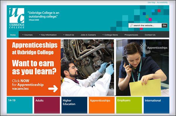 Joomla education websites - Uxbridge College: http://www.uxbridge.ac.uk/