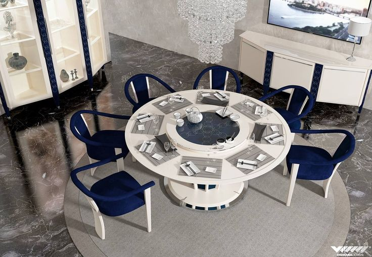 #vismaradesign Capital round table 180 with lazy susan with comfort open chairs to enhance your dining room. #diningroom #table #chair