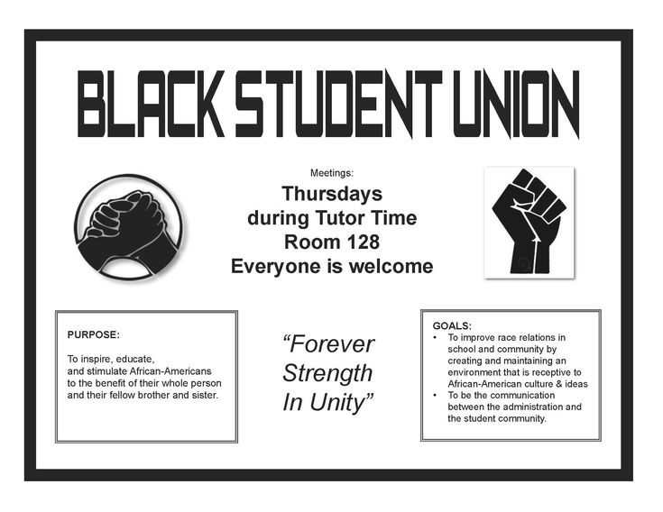 black student union flyer - Google Search