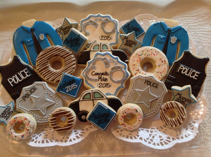 Police themed cookies