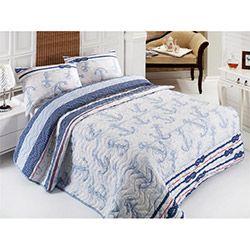 Eponj Home Çapa Çift Kişilik Yatak Örtüsü Takımı - Açık Mavi