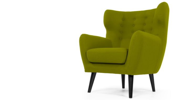 Kubrick Armchair in fern green | made.com