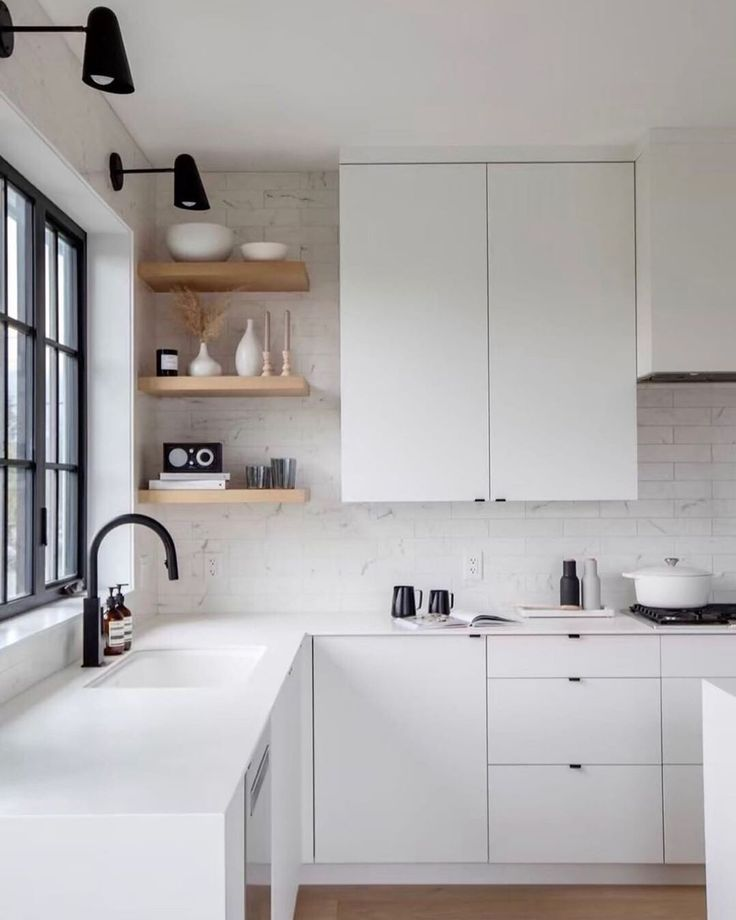 Pin By Natty Oliveira On Kitchen In 2020 White Modern Kitchen Minimalist Kitchen Design Minimalist Kitchen