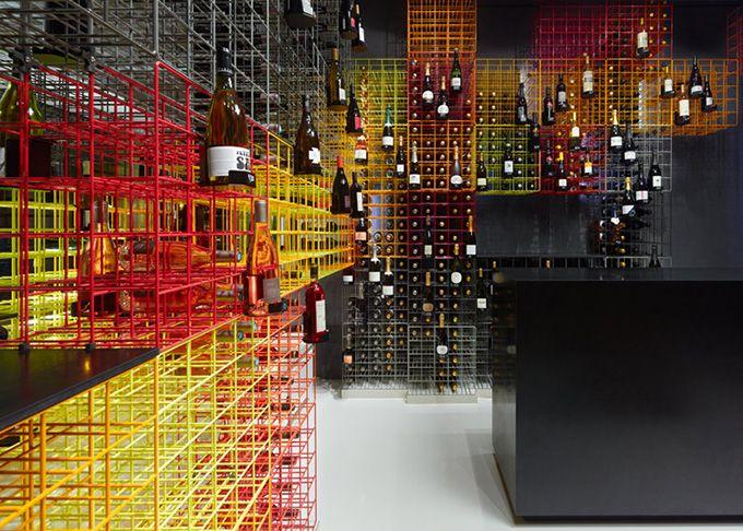 Wine shop in central Stuttgart, Germany by Furch Gestaltung + Produktion.