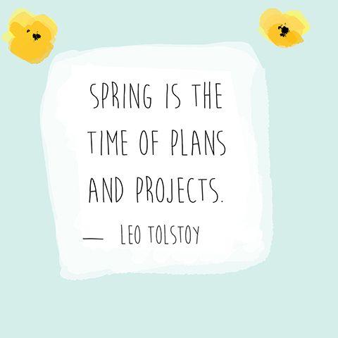 Spring Quotes - Leo Tolstoy