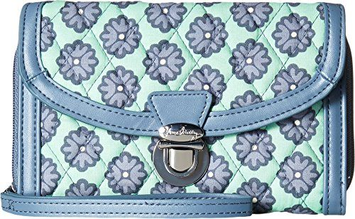 Vera Bradley Ultimate Wristlet (Nomadic Blossoms with Gray) ,,^..^,, View details @ http://www.amazon.com/gp/product/B01AHS7HN2/?tag=handbagscto-20&OP=190816020241