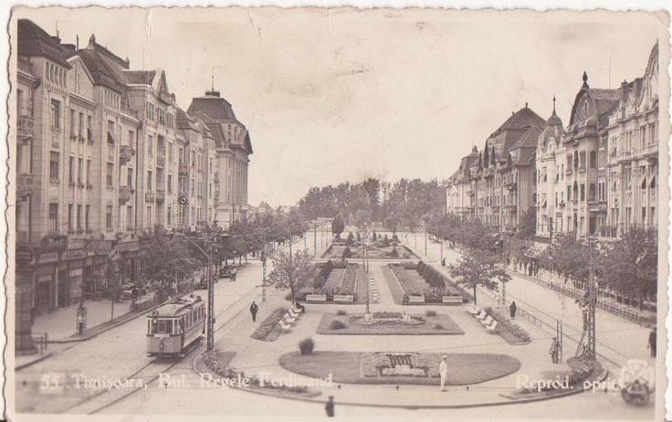 Timisoara - Bulevardul 30 Decembrie - interbelica