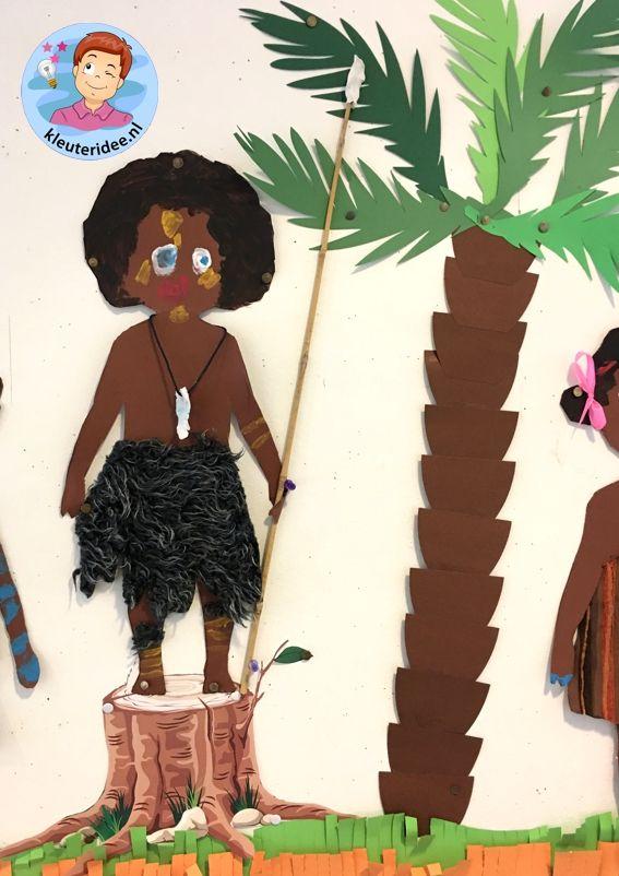 Afrikaanse kinderen knutselen,kleuteridee , thema Afrika