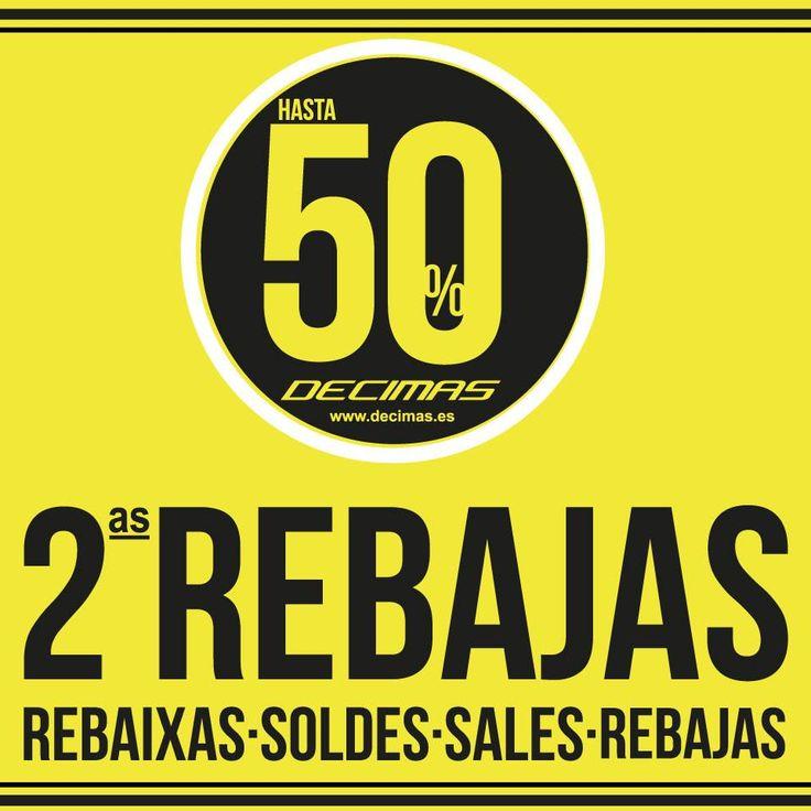 ¡No te puedes perder las #rebajas de @decimasoficial ! ¡Ahora rebajas de hasta el 50% ! http://goo.gl/yPGY0M
