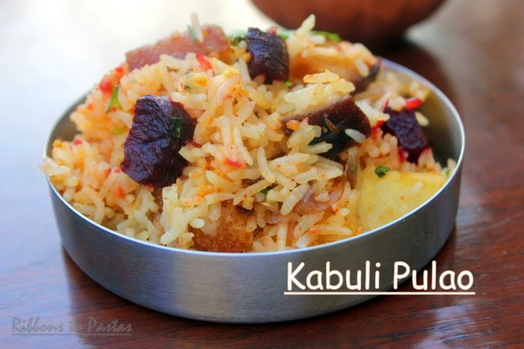 Ribbon's to Pasta's: Jodhpuri Kabuli Pulao