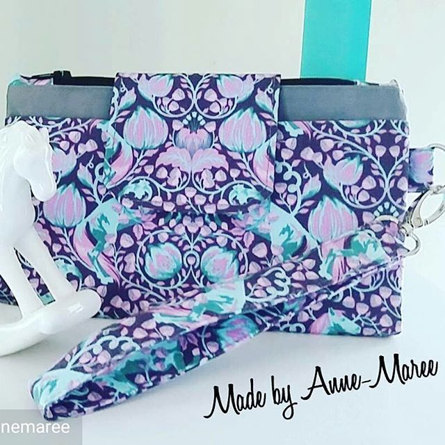 How beautiful is this Jenna purse! Well done @madebyannemaree -  My latest wallet creation in gorgeous pony play fabric, loving this one 💜💜 #handmade #handmadewithlove #madeinaustralia #madewithlove #wallet #purse #clutch #love #
