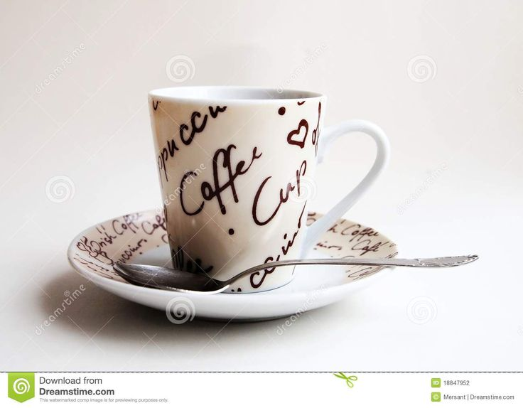 A cup of coffee with white background
