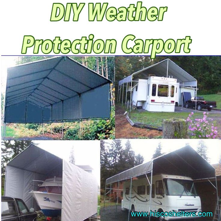 Motorhome Storage Portable Shelter : Make your own portable carport shelter long lasting