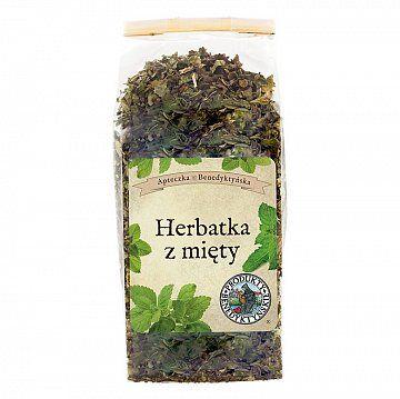 HERBATKA Z MIĘTY ( Mentha species) - Produkty Benedyktyńskie    Herbatka z mięty - Wiele odmian mięty uprawiano w Europie już w IX wieku. W zapiskach pewnego mnicha czytamy, że łatwiej policzyć iskry z Wulkana niż jej odmia...