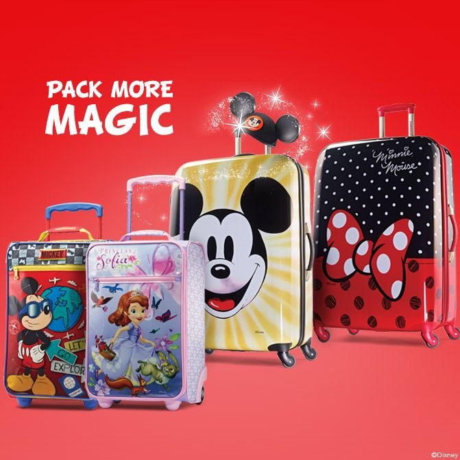 Outfit the whole family for fun with our Disney Collection luggage. Which  bag will your