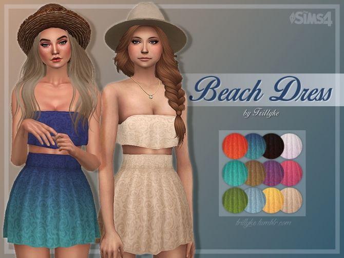 Beach Dress at Trillyke via Sims 4 Updates