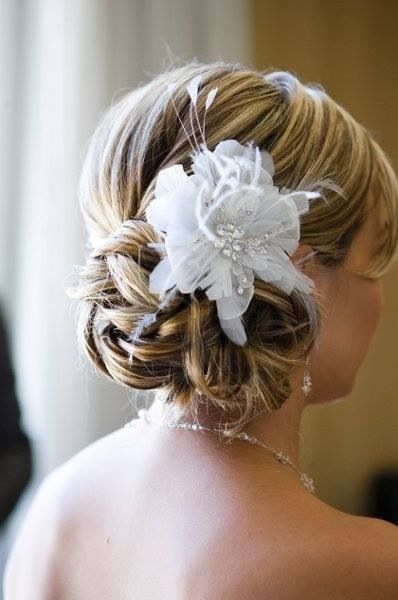 Wedding Hair - flower/hair piece?