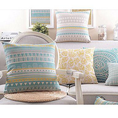 Set+of+4+Honey+Life+Cotton/Linen+Decorative+Pillow+Cover+–+AUD+$+59.84