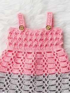 Crochet Baby Dress Pattern. Make a cute dress using this Cotton Candy Jumper Pattern on my blog. Click the picture to visit my blog.