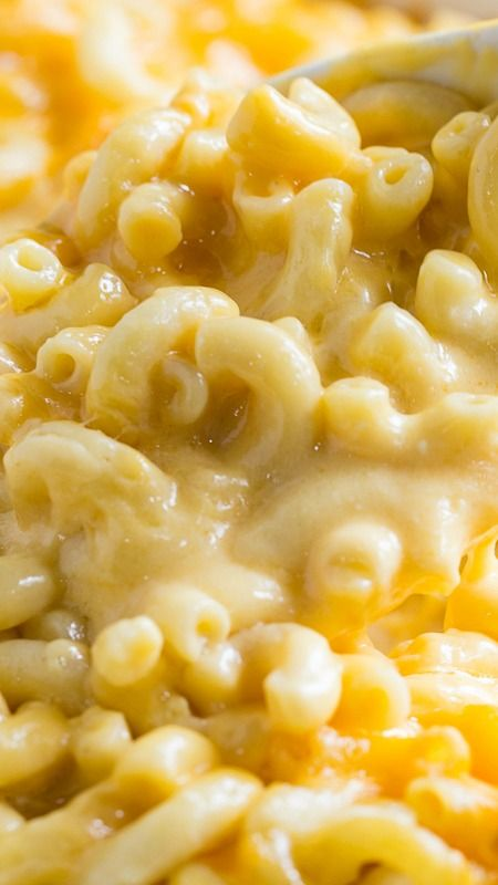 Super Creamy Mac and Cheese ~ Insanely rich and delicious... Three types of cheese give Super Creamy Mac and Cheese a whole lot of cheese flavor.