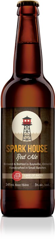 Spark House Red Ale from Lake Of Bays Brewing Company.